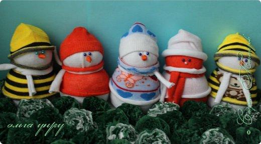 Снеговики из носков фото 2