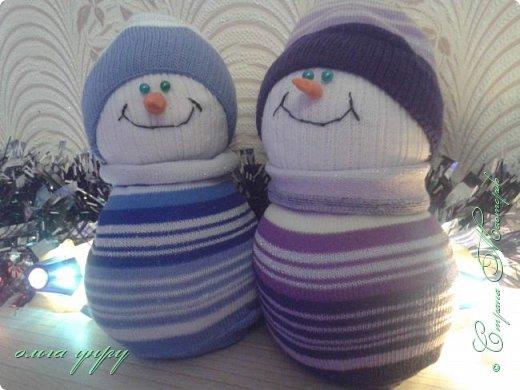 Снеговики из носков фото 1