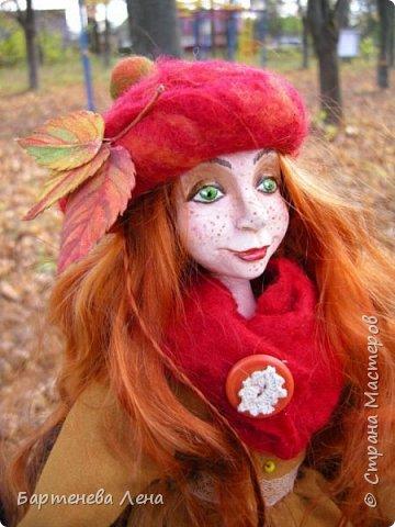 """Сбылась, сбылась моя очень давняя мечта! Я создала куклу! Осень для меня вдохновляюшее время года, поэтому кукла """"Осень""""! фото 4"""