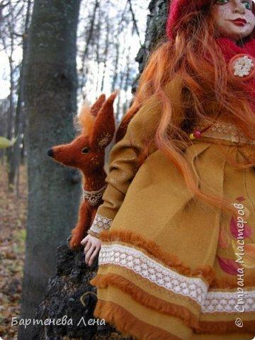 """Сбылась, сбылась моя очень давняя мечта! Я создала куклу! Осень для меня вдохновляюшее время года, поэтому кукла """"Осень""""! фото 5"""