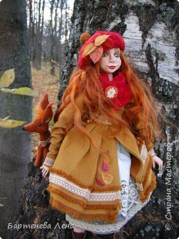 """Сбылась, сбылась моя очень давняя мечта! Я создала куклу! Осень для меня вдохновляюшее время года, поэтому кукла """"Осень""""! фото 2"""