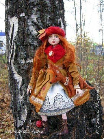 """Сбылась, сбылась моя очень давняя мечта! Я создала куклу! Осень для меня вдохновляюшее время года, поэтому кукла """"Осень""""! фото 1"""