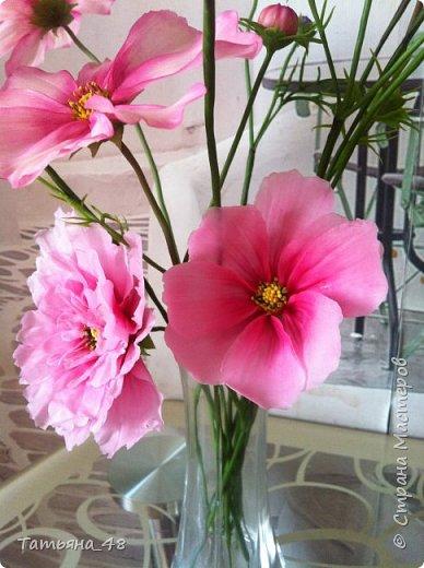 Добрый день, дорогие мастерицы! Выкладываю на ваше обсуждение мои вымученные цветы! Лепила их и занималась самоедством!  Всем была недовольна! И формой и цветом и тд... Но в итого.... понравилось. Фото много..... фото 8