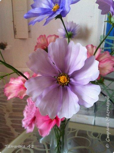 Добрый день, дорогие мастерицы! Выкладываю на ваше обсуждение мои вымученные цветы! Лепила их и занималась самоедством!  Всем была недовольна! И формой и цветом и тд... Но в итого.... понравилось. Фото много..... фото 7