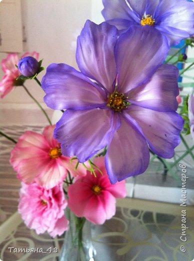 Добрый день, дорогие мастерицы! Выкладываю на ваше обсуждение мои вымученные цветы! Лепила их и занималась самоедством!  Всем была недовольна! И формой и цветом и тд... Но в итого.... понравилось. Фото много..... фото 6