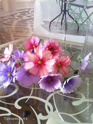 Добрый день, дорогие мастерицы! Выкладываю на ваше обсуждение мои вымученные цветы! Лепила их и занималась самоедством!  Всем была недовольна! И формой и цветом и тд... Но в итого.... понравилось. Фото много..... фото 4