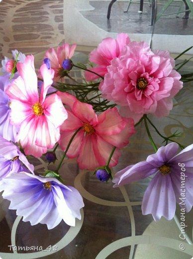 Добрый день, дорогие мастерицы! Выкладываю на ваше обсуждение мои вымученные цветы! Лепила их и занималась самоедством!  Всем была недовольна! И формой и цветом и тд... Но в итого.... понравилось. Фото много..... фото 2