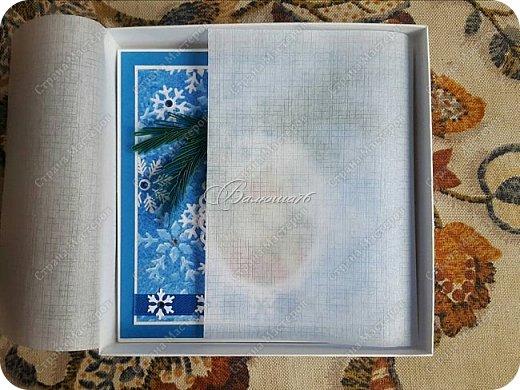 новогодняя открытка - стойка в коробочке. фото 4