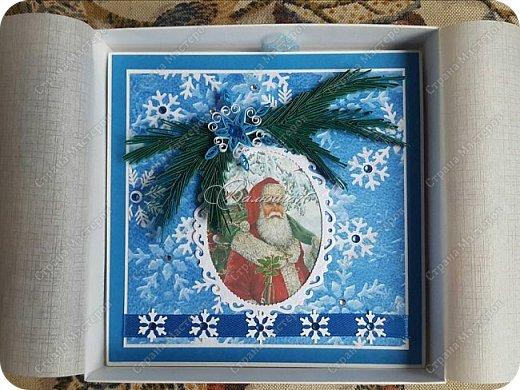 новогодняя открытка - стойка в коробочке. фото 5