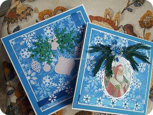 новогодняя открытка - стойка в коробочке. фото 6