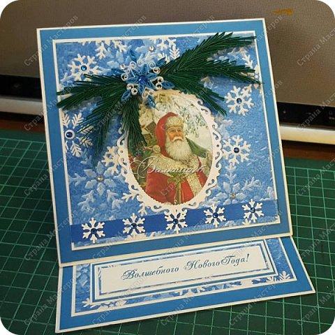 новогодняя открытка - стойка в коробочке. фото 7