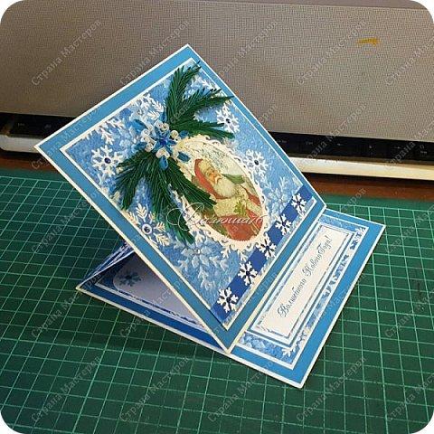 новогодняя открытка - стойка в коробочке. фото 8