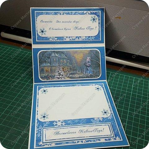 новогодняя открытка - стойка в коробочке. фото 12