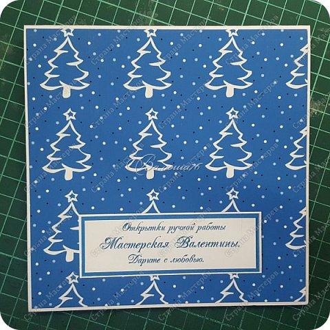 новогодняя открытка - стойка в коробочке. фото 13