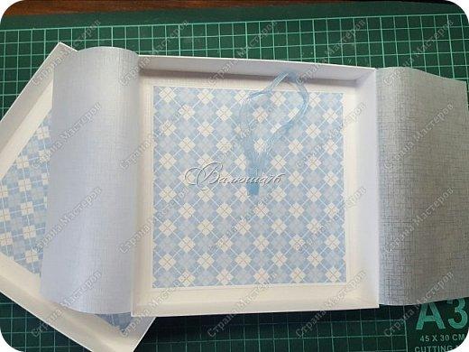 новогодняя открытка - стойка в коробочке. фото 15