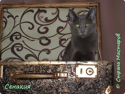 Здравствуйте, мои дорогие жители Страны мастеров. Хочу вам рассказать в фотографиях как реставрировала старый советский чемодан под хранилище для фотографий)) Вот таким мне его принесли. фото 9
