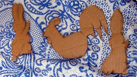 Примитивные плоские елочные игрушки из шпагата фото 2