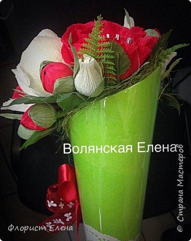 """Кулечек с конфетными цветами""""Летнее настроение"""" фото 3"""