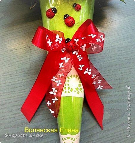 """Кулечек с конфетными цветами""""Летнее настроение"""" фото 4"""