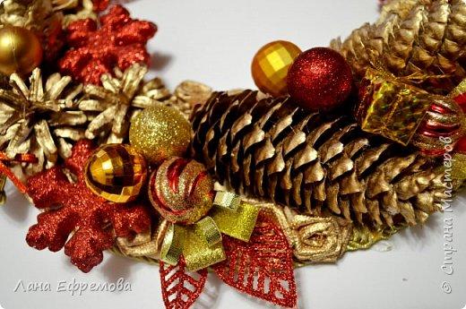 Рождественский венок диаметр 40 см.  фото 2