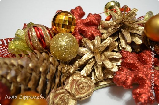 Рождественский венок диаметр 40 см.  фото 3