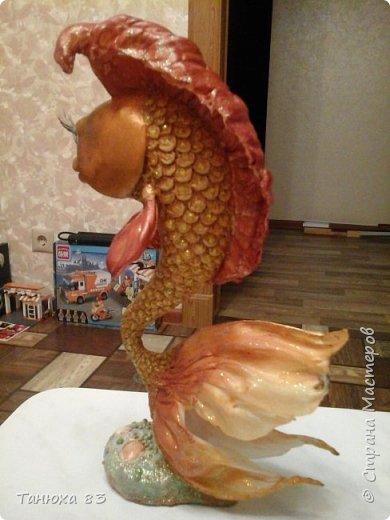 Привет всем кто заглянул   Вот такая непонятная рыба получилась с страшными глазами.  фото 9