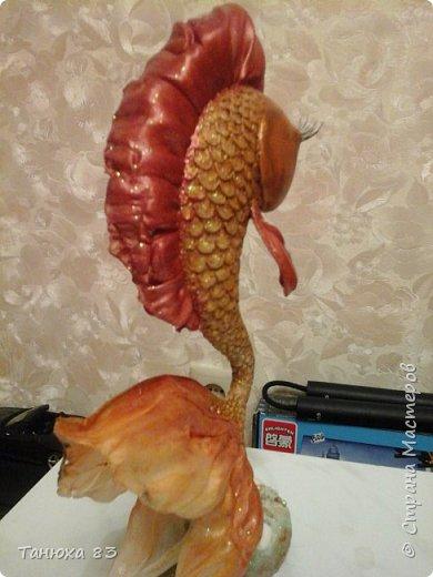 Привет всем кто заглянул   Вот такая непонятная рыба получилась с страшными глазами.  фото 3