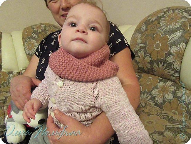 Вот такой шарфик я связала для маленькой Лионы. фото 1