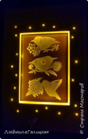 Дорогие мои! Совсем забыла познакомить вас с новыми моими работами! Открыла для себя удивительное сочетание бумаги и света. И теперь еще одна моя страсть: светильники- лайтбоксы! фото 12
