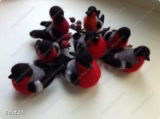 """""""Навалялась"""" вот такая птичья стайка. Будут сувенирами к новому году. фото 2"""