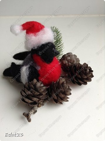 """""""Навалялась"""" вот такая птичья стайка. Будут сувенирами к новому году. фото 5"""