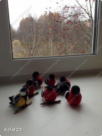 """""""Навалялась"""" вот такая птичья стайка. Будут сувенирами к новому году. фото 1"""