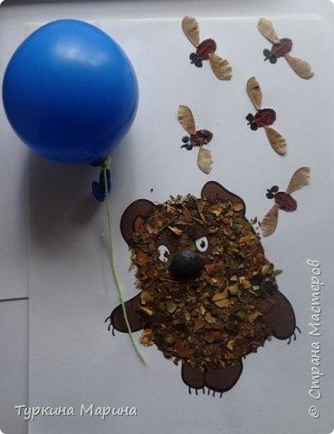 Всем привет! Одна из примет осени - это конкурс поделок из природного материала в детских садах и в школах! Вот и наши поделки подоспели! Этого Винни Пуха мы сделали с дочкой Ксюшей (3 года). фото 1