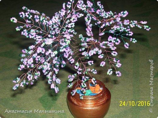 Дерево из бисера фото 4