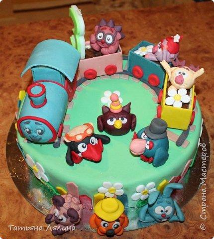Трёхлетнему малышу такой тортик пришелся по душе! фото 1