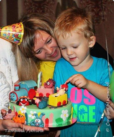 Трёхлетнему малышу такой тортик пришелся по душе! фото 3
