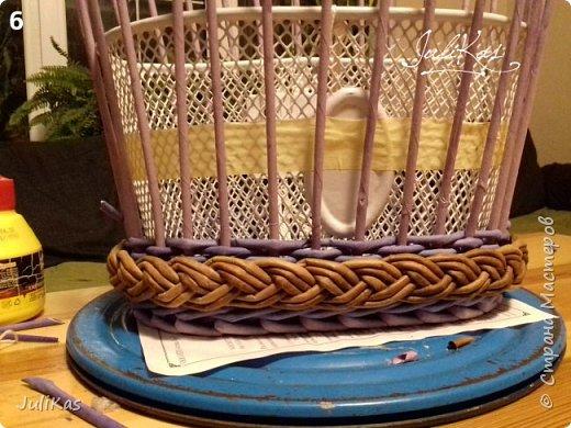 """Здравствуйте коллеги! Сегодня у меня две велокорзинки под одним названием """"корзинка ягодной феи"""", в двух вариантах, т.к. есть явные любители фиолетового цвета, и есть те кто это скрывает. ))) Я отношусь ко вторым ) фото 13"""