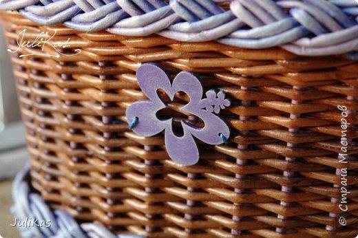 """Здравствуйте коллеги! Сегодня у меня две велокорзинки под одним названием """"корзинка ягодной феи"""", в двух вариантах, т.к. есть явные любители фиолетового цвета, и есть те кто это скрывает. ))) Я отношусь ко вторым ) фото 5"""