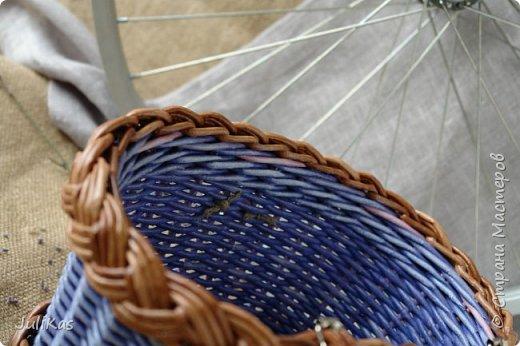 """Здравствуйте коллеги! Сегодня у меня две велокорзинки под одним названием """"корзинка ягодной феи"""", в двух вариантах, т.к. есть явные любители фиолетового цвета, и есть те кто это скрывает. ))) Я отношусь ко вторым ) фото 17"""