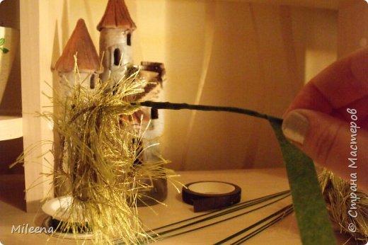 """Всем привет! Представляю на Ваш суд свое творение из пряжи """"Травка"""" - дерево ИВА ПЛАКУЧАЯ ))) фото 9"""