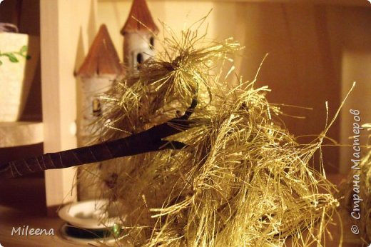 """Всем привет! Представляю на Ваш суд свое творение из пряжи """"Травка"""" - дерево ИВА ПЛАКУЧАЯ ))) фото 11"""