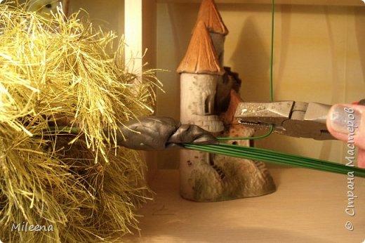 """Всем привет! Представляю на Ваш суд свое творение из пряжи """"Травка"""" - дерево ИВА ПЛАКУЧАЯ ))) фото 14"""
