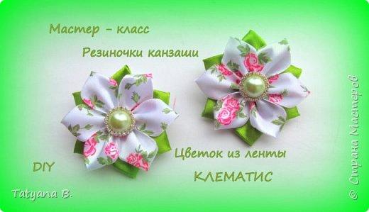 Цветок КЛЕМАТИС. Канзаши для начинающих