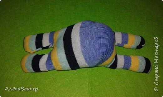 Материал: носок , ножницы, нитки и игла, крупа ( горох и рис), ватин, пуговицы. фото 7