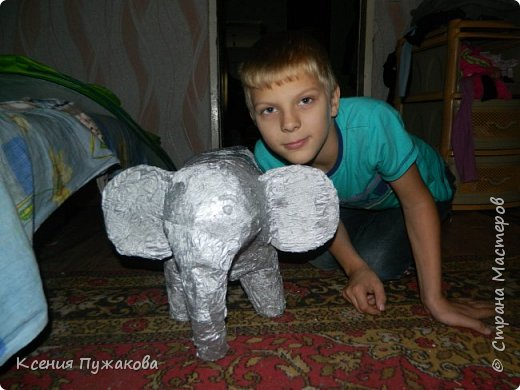 Слон из папье маше фото 1