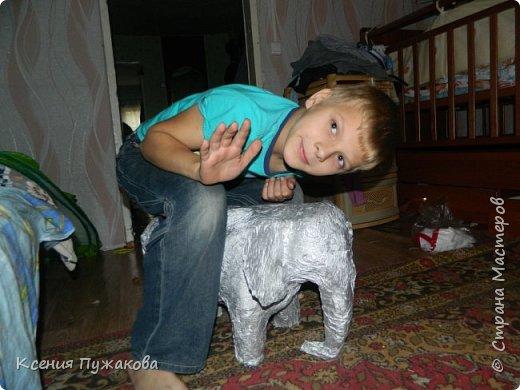 Слон из папье маше фото 2