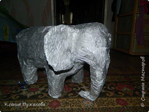 Слон из папье маше фото 3