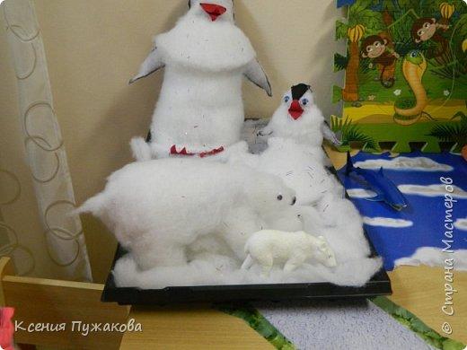 Пингвины и белый медведь фото 2