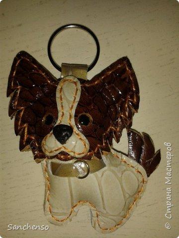 Попугаи. Брелки для ключей. выполнены полностью из натуральной кожи. фото 2