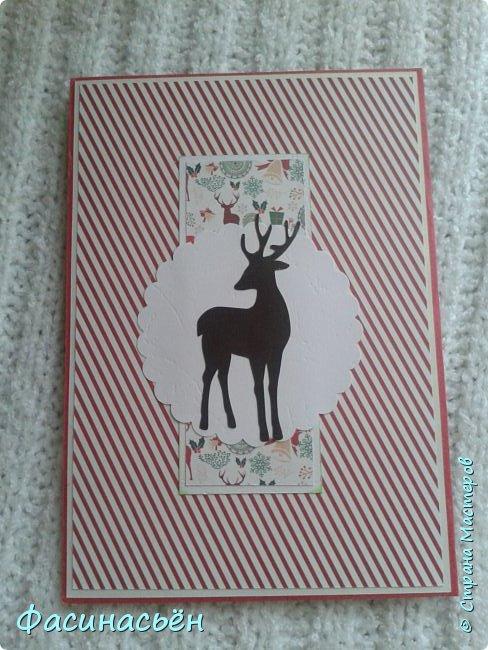 Первая новогодняя открытка в этом году и немножко разностей. фото 5